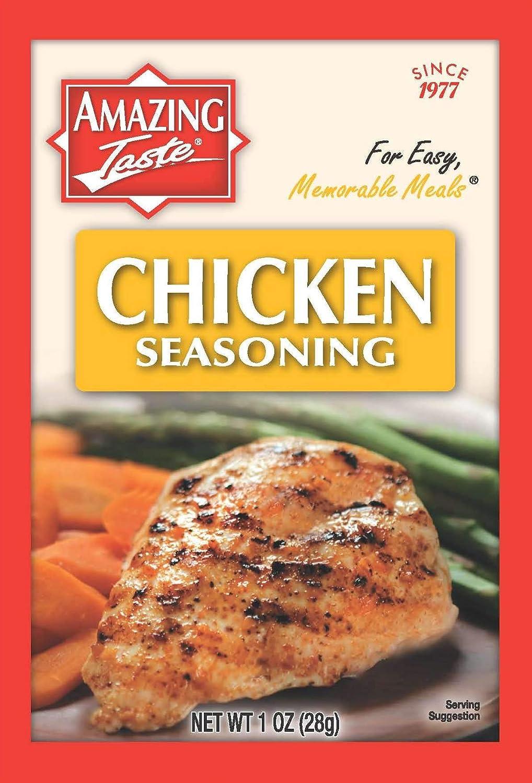 Amazing Taste Chicken Deluxe Seasoning Bundle 10 Popular products Packets- 1 oz. ea.