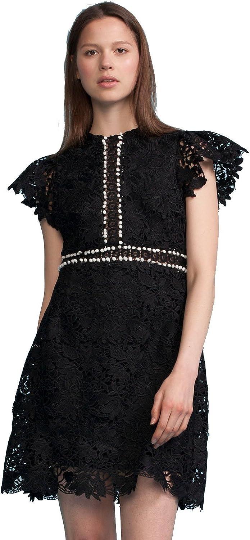 Cynthia Rowley Women's Short Sleeve Lace Dress