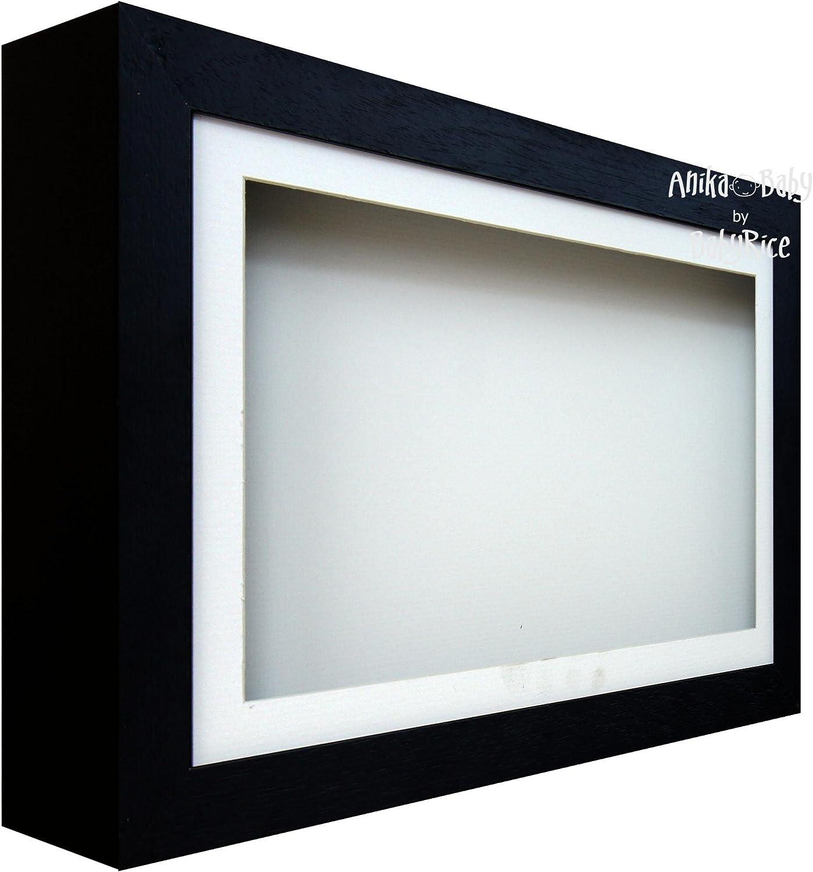 BabyRice Deep Shadow Box Display Wooden Frame for - 3D Black O Award Max 72% OFF