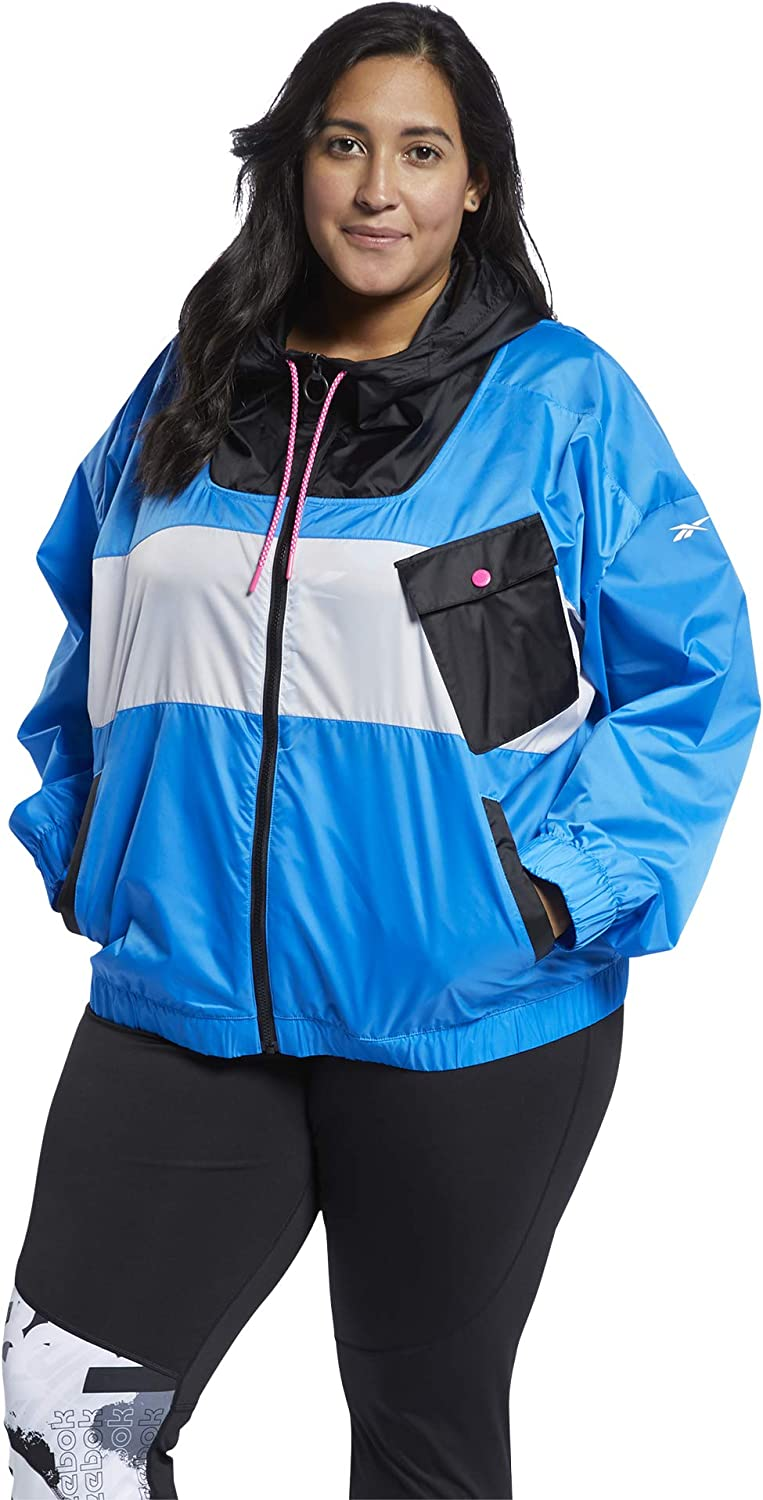 Reebok Women's Workout New arrival Ready Meet Zip You Jacket Dallas Mall Full There