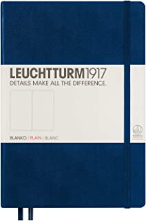 Leuchtturm1917 Medium A5 Plain Hardcover Notebook (Navy) - 249 Numbered Pages
