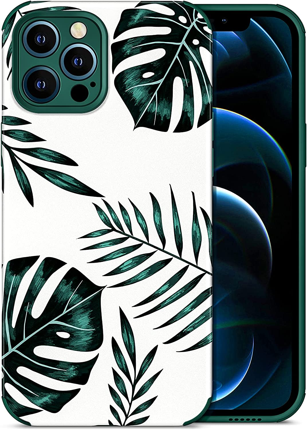 Uneedity Compatible with 5 popular iPhone 12 Factory outlet Case Pro Max Floraseeds Seri