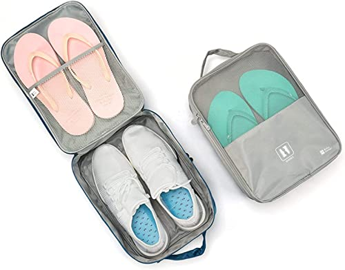 Waterproof Travelling Shoe Storage Bag Footwear Organiser Pouch Portable Shoes Storage Bag Shoes Bag for Travel for Men and Women Multi Purpose Portable Rack Foldable Organizer Multicolor