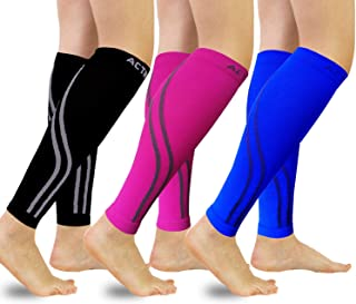 Calf Compression Sleeves Graduated Compression, Ergonomic fit for Men and Women Ideal for Sports, Work, Flight, Pregnancy
