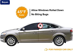 Bayan Car Front Side Window Sun Shade UPF40+ Cut 99% UVA&UVB-Intended for Parked Car-2 Pack