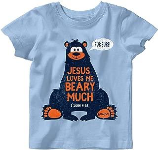 Kids Jesus Loves Me T-Shirt -Light Blue-