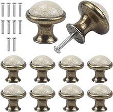 Jinlaili Vintage kabinet knoppen, 33MM keramische knoppen, Vintage Shabby Chic ronde lade knoppen, keuken kast lade deur k...