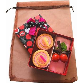 MoonFlower (ムーンフラワー) ギフト タオル お祝い かわいい スイーツ ロール ケーキ (ピンク)