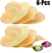 Teemico DIY Straw Hat Kids Handmade Hat Cap Beach Sun Hat Art Painting Hat