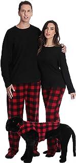 #followme Men's Plaid Button Front Flannel Pajamas Se