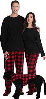 Matching Pajamas for Couples, Dog and Owner Buffalo Plaid