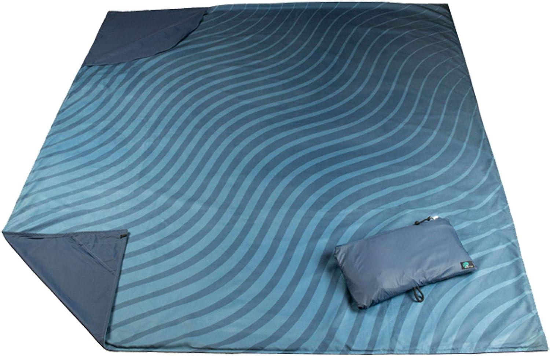 Acteon Adventure Outdoor Blanket, 8in1 Versatile and Waterproof Blanket, Durable Ripstop Nylon with Soft Microfiber Top, Convenient for Picnic Blanket, Camping, Beach Blanket, Travel Blanket, More