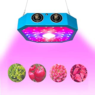 1100W COB LED Plant Grow Light, Adjustable Veg&Bloom Switch Full Spectrum LED Growing Lamps Double Chips for Indoor Plants Hydroponics Greenhouse Fruits Veg and Flowers