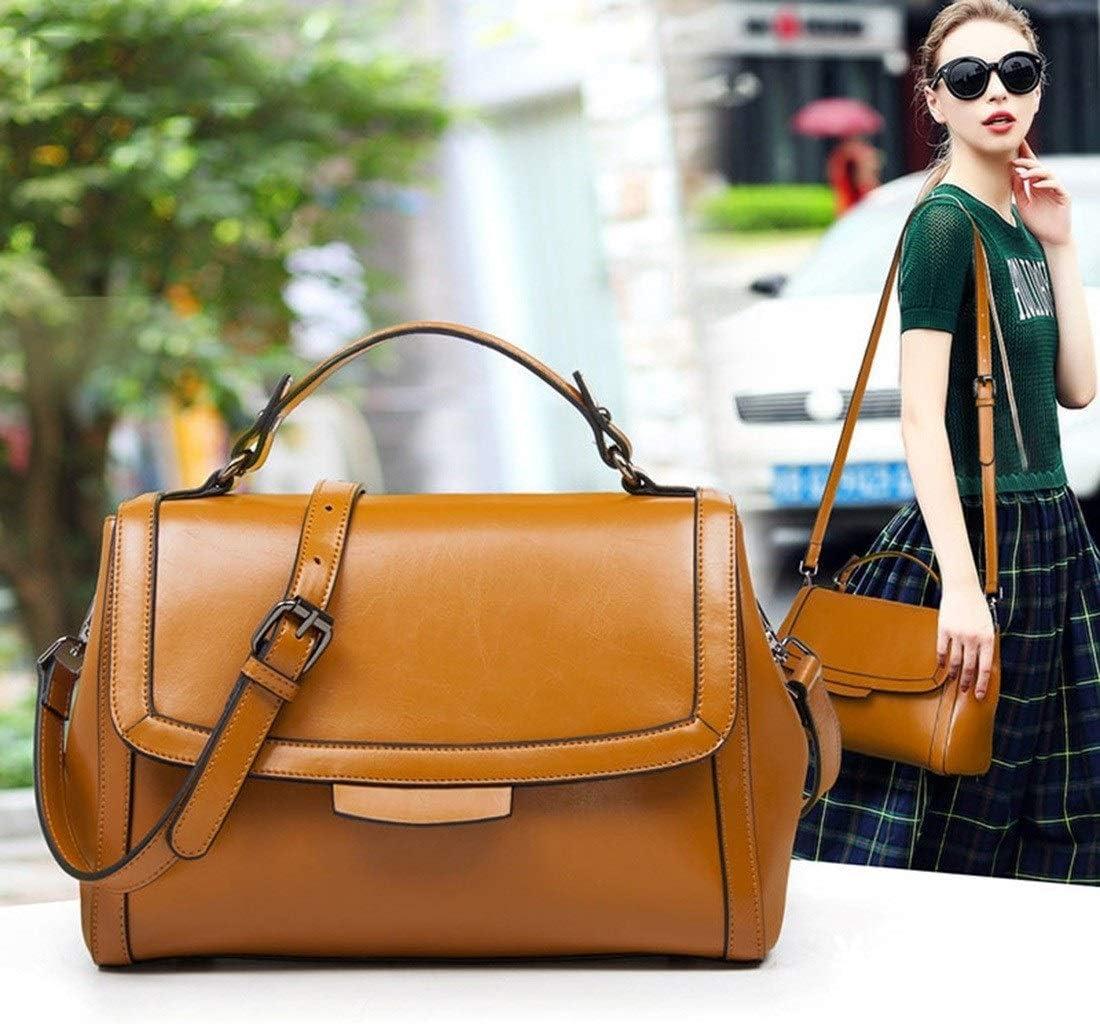 Ouzhoub Shoulder Handbags, Sac à bandoulière Messenger Sac à Main en Cuir Verni Sac à Main Sacs à Main for Les Femmes (Color : Yellow) Yellow