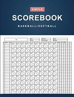 Baseball/Softball Scorebook: Simple Baseball/Softball Scorekeeper Book - Baseball/Softball Score Sheet - 100 Games 12 Play...