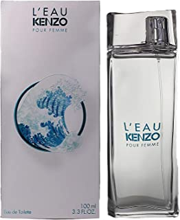 KENZO L'EAU eau de toilette Mujeres 100 ml - Eau de toilette (Mujeres, 100 ml, Loto, Verde pimiento, Menta, Yuzu, Cedar (scent), Almizcle blanco, Aerosol)