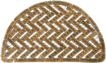 Rubber-Cal 10-100-510 Caspian Sea Outdoor Half Round Scraper Doormat, 18