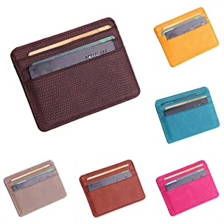SSYongxia Slim Minimalist RFID Leather Wallets,Front Pocket Wallet,Credit Card Holder for Men & Women,Money Clip