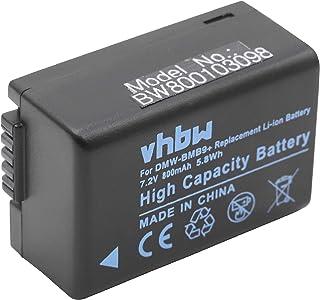vhbw batería 800mAh para cámara Panasonic Lumix DC-FZ82 y Panasonic DMC-BMB9 DMW-BMB9E Leica BP-DC9.