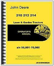 New, Complete JOHN DEERE 210, 212, 214 ------ s/n 55,001-70,000 Lawn & Garden Tractor Owners Operators & Instruction Manual