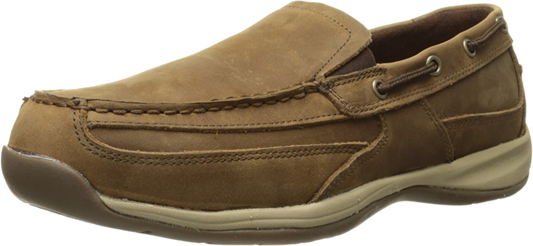 Rockport Work Men's Sailing Club RK6737 Slip on Boat chaussures, marron, 9 M US