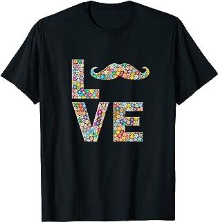 Moustache moustache homme amour fleurs T-Shirt
