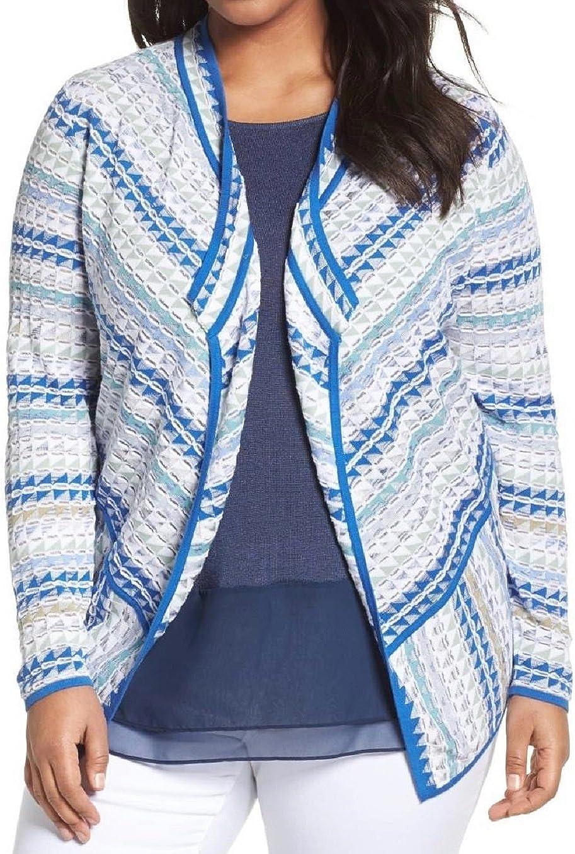 NIC+ZOE Women's Plus Size Prism Stitch Cardigan, Multicolor
