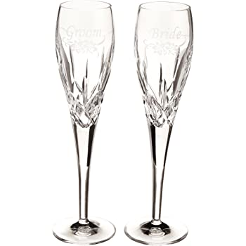 Galway Longford Stemware Flute Champagne Pair Galway Crystal 22265//2A