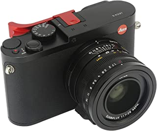 Haoge THB-LR Metal Hot Shoe Thumb Up Rest Thumbs Up Hand Grip for Leica Q Q-P QP Typ116 Typ 116 Camera Red