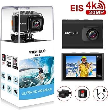 WONGKUO 4K 20MP Ultra HD EIS Anti-shake Sport Action Camera