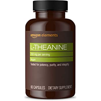 Amazon Elements L-Theanine, 200mg, 60 Capsules, 2 month supply (Packaging may vary)