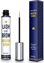 Natural Lash Growth Serum - Eyebrow Growth Enhancer - Eyelash Booster to Grow Longer Eyelashes - Lash Boost & Brow Enhancing Serum