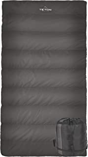TETON Sports Celsius Hybrid XL Sleeping Bag; Lightweight Sleeping Bag Great for Cold Weather Camping and Hunting; Great to Come Back to After a Long Day on the Trail; Compression Sack Included