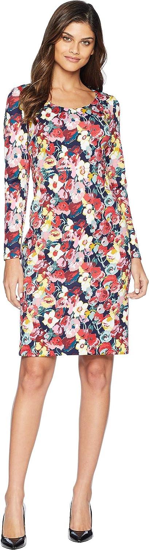 Betsey Johnson Women's Floral Printed Scuba Dress Floral Multi 2