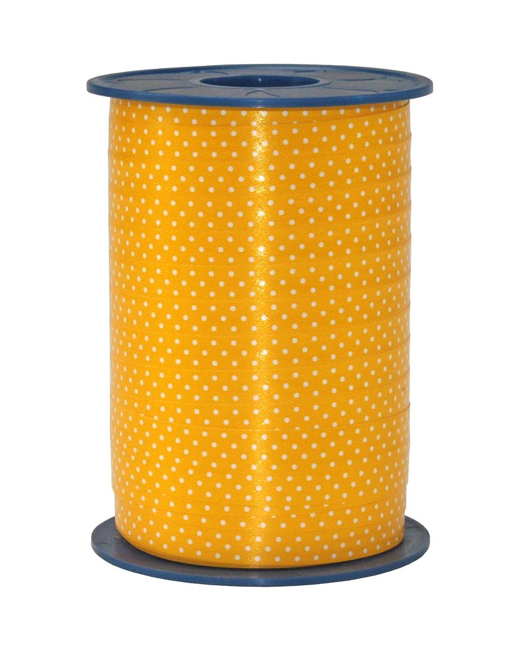 Pr?sent C.E. Pattberg 10 mm 200 m Ribbon Curling Dots Pünktchen, Yellow