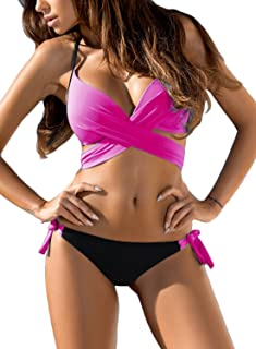 Astylish Women's Push Up Two Piece Bikini Swimsuits Padded Swimwear Bathing Suits