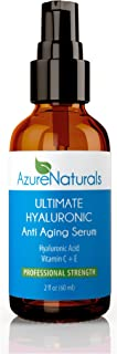 PROFESSIONAL STRENGTH - Best HYALURONIC Acid Natural Moisturizer For Your Face, Anti Aging Organic Vitamin C Serum + Vitam...