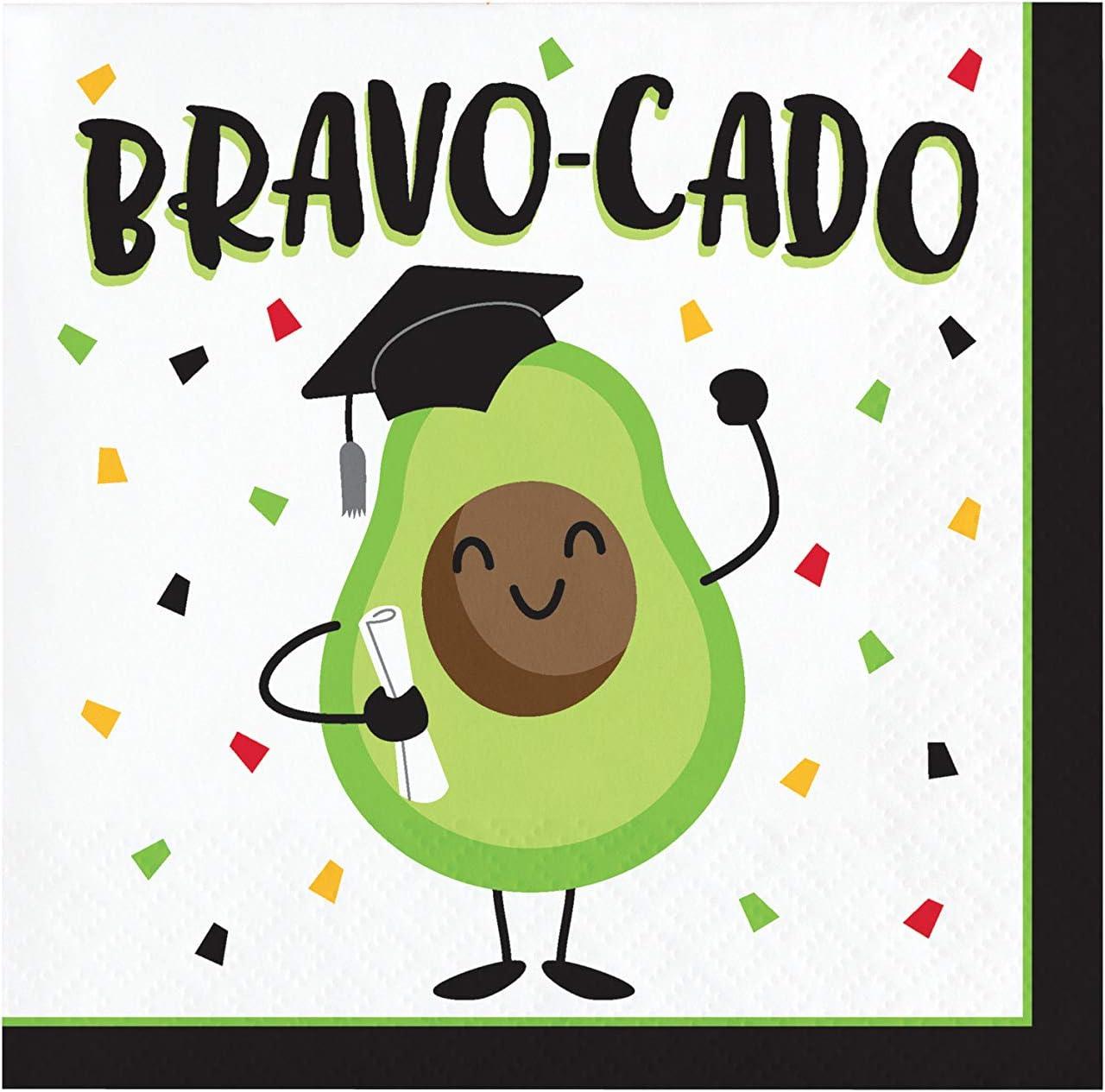 Creative Converting Bravo-cado Graduation Beverage Napkins, 5