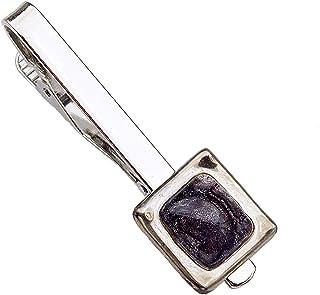 Krawattenklammer • Braun • Krawattennadel • Tschechisches Blasenglas mit Platin überzogen • Handgefertigt