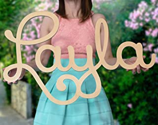 Custom Personalized Wooden Name Sign 12-55