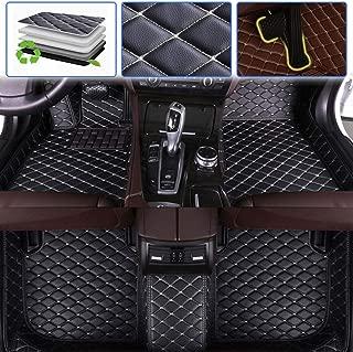 SureKit Custom Car Floor Mats for Lexus ES ES330 ES330H ES350 2005-2017 Luxury Leather Waterproof Anti-Skid Full Coverage Liner Front & Rear Mat/Set (Black Beige)