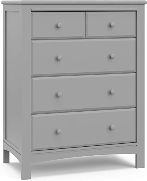 Graco Benton 4 Drawer Dresser Pebble Gray Easy New Assembly Process Universal Design Durable Steel Hardware And Euro Glide Drawers With Safety Stops Coordinates With Any Nursery