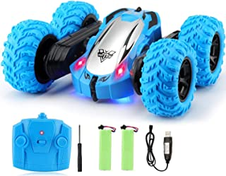 Tobeape RC Cars, 4WD Off Road Remote Control Car, Double Sided Rotation Stunt Car, 360°Spin Flips Vehicle, 2.4GHz RC Stunt...