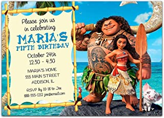 handmade moana invitations