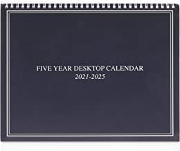 5 Year Monthly Desk Calendar, January 2021- December 2025 (9 x 11 in)