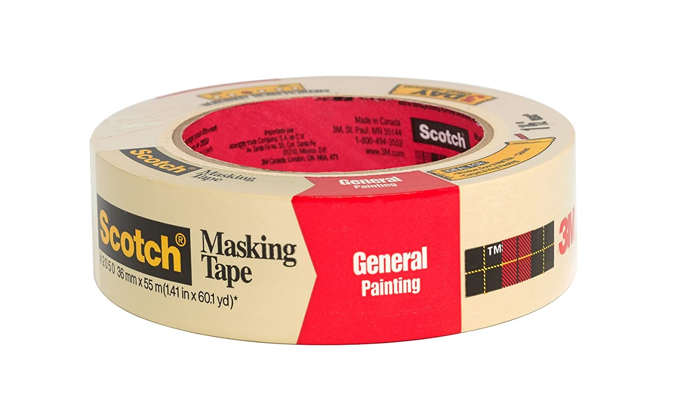 Scotch Greener Masking Tape for Performance Painting, 2050-36A-BK, 1.41-Inch by 60.1-Yards, 1 Roll