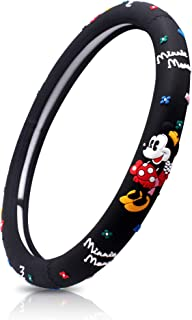 FINEX Silicone Minnie Mouse Auto Car Steering Wheel Cover - Black - Universal Fit