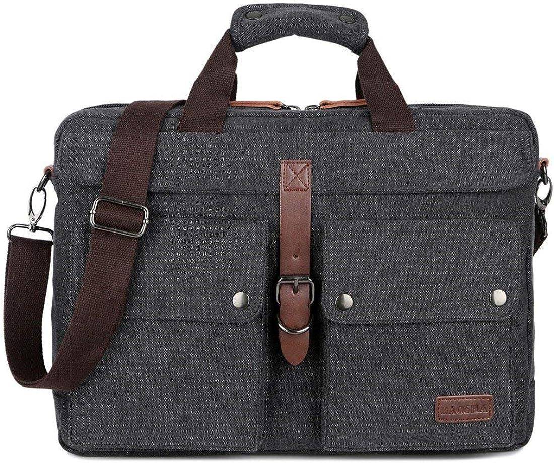 BAOSHA BC-07 17inch Canvas Laptop Max 77% OFF Ranking TOP8 Mul Messenger Bag Computer