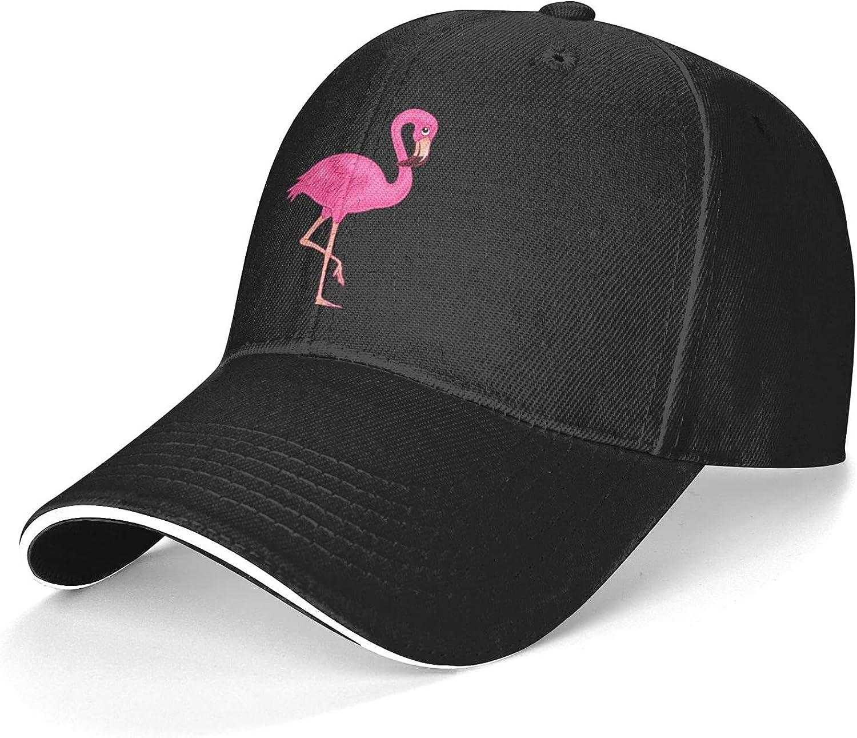 RISETRIAL Cute Beautiful Pink Flamingo Unisex Dad Hat Adjustable Trucker Hat Fashion Baseball Cap