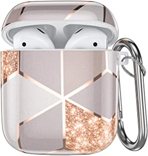 Ouwegaga Compatibel met Apple Airpod Case 2 & 1, Sschokbestendig Airpods Geval Hoes LED Voorzijde Zichtbaar, Ondersteunt D...